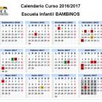 Calendario E.I. BAMBINOS 16-17