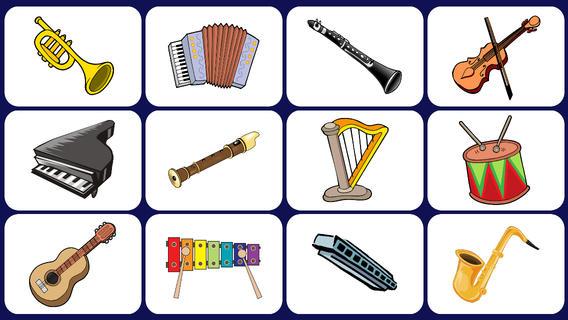 Instrumentos musicales. Bambinos