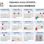 Calendario Bambinos 18-19