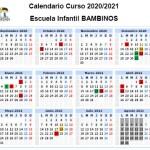 Calendario curso 20-21