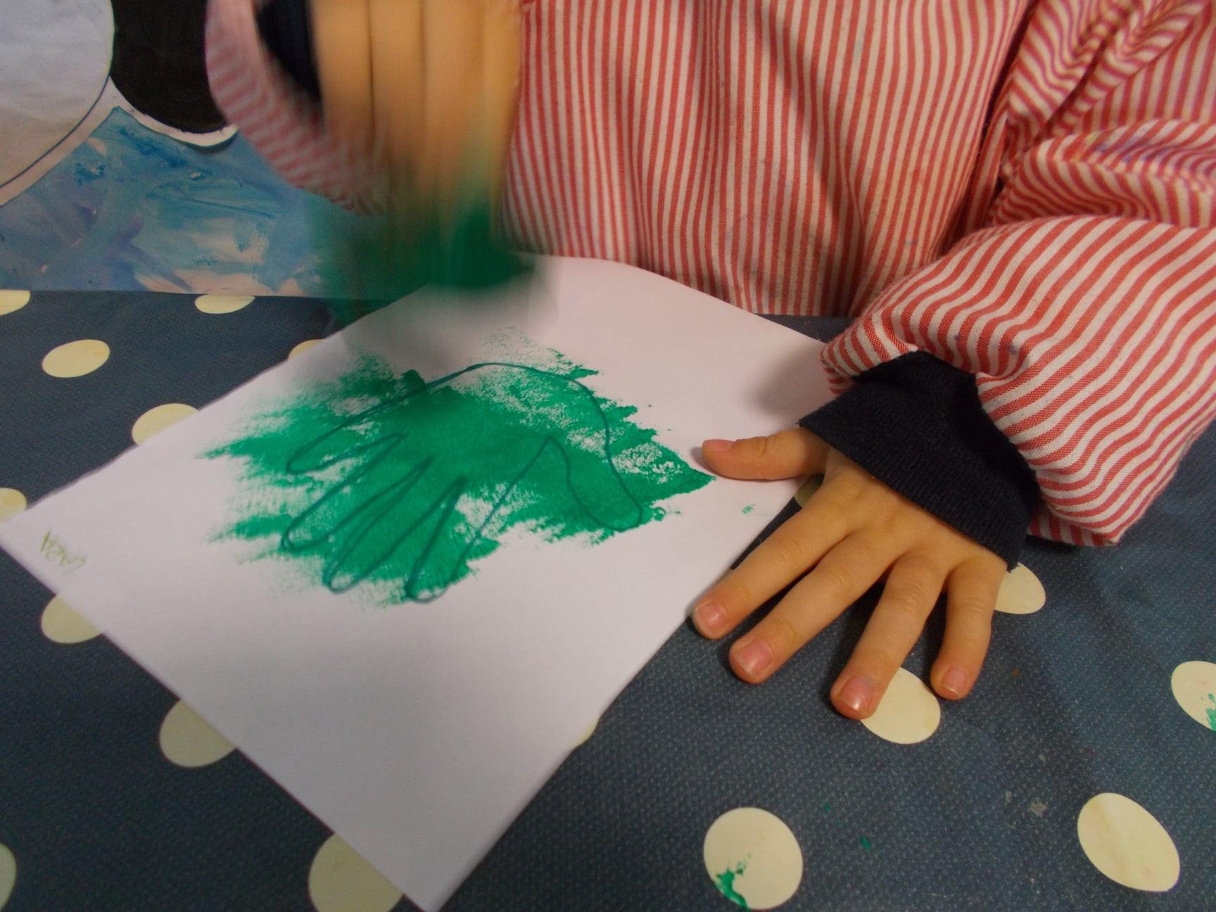 Pinturas en edad infantil. Bambinos