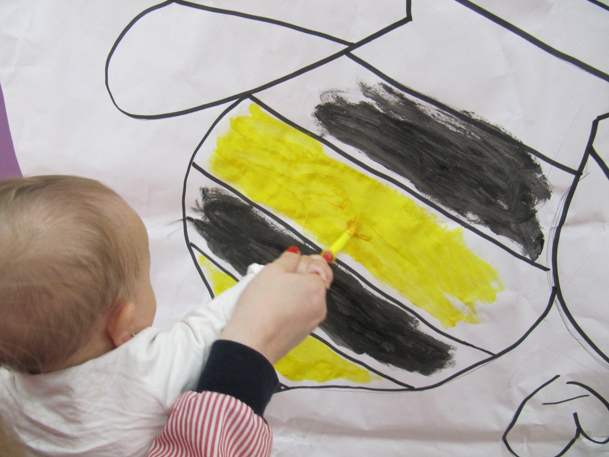 Pintar en edad infantil. Bambinos