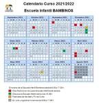 Calendario Bambinos 21-22